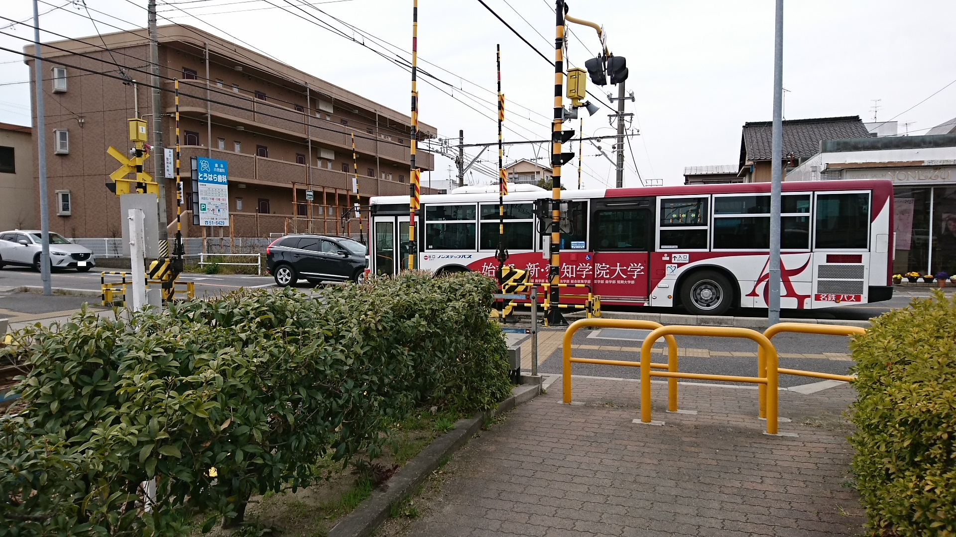 2017.3.18 古井から美合まで (29) 美合にしふみきり - 名鉄バス 1920-1080