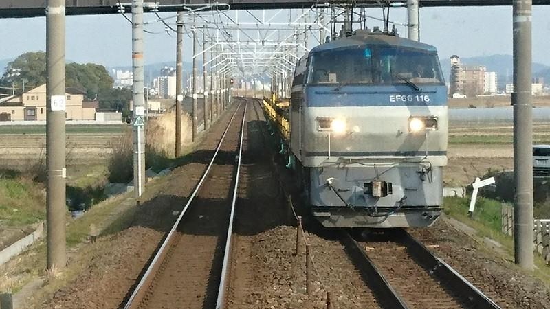 2017.3.23 東海道線 (14) 豊橋いき快速 - 西岡崎-岡崎間(貨物列車) 800-450