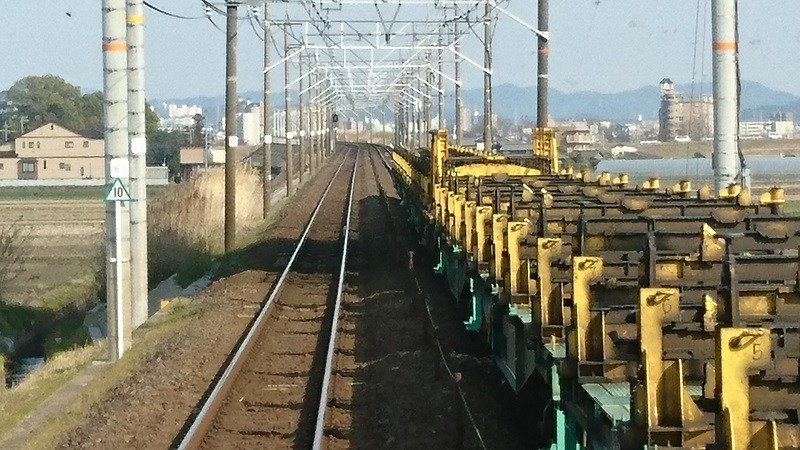 2017.3.23 東海道線 (15) 豊橋いき快速 - 西岡崎-岡崎間(貨物列車) 800-450