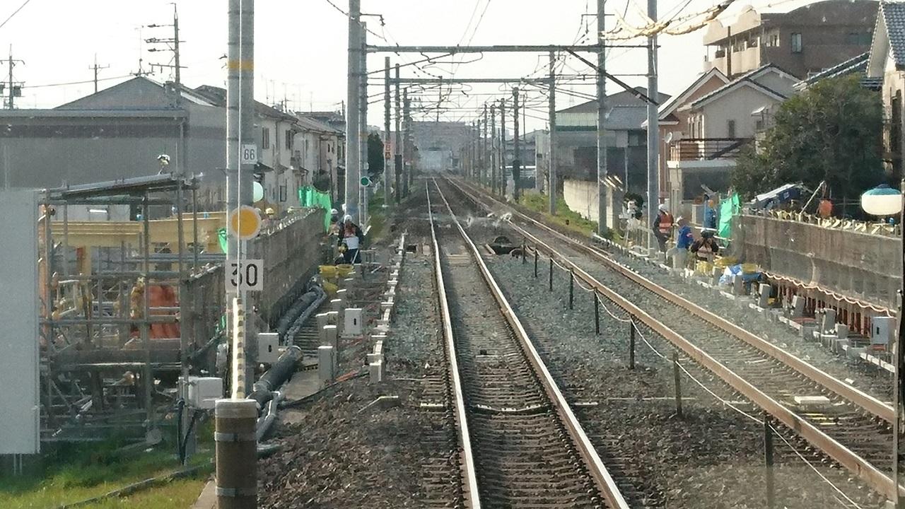 2017.3.23 東海道線 (27) 大垣いき新快速 - 鹿乗川 1280-720