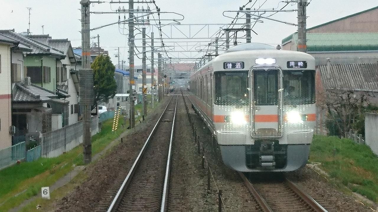 2017.3.25 東海道線 (8) 岐阜いきふつう - 西岡崎てまえ(岡崎いきふつう) 1280-720