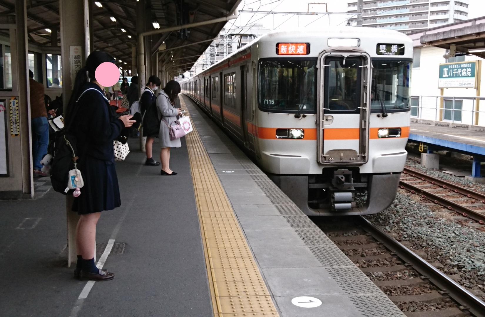 2017.3.25 東海道線 (15) あんじょう - 豊橋いき新快速 1650-1080