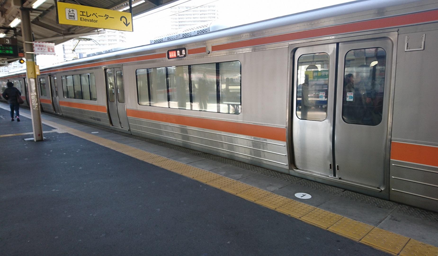 2017.3.27 東海道線 (1) あんじょう - 豊橋いき新快速 1850-1080