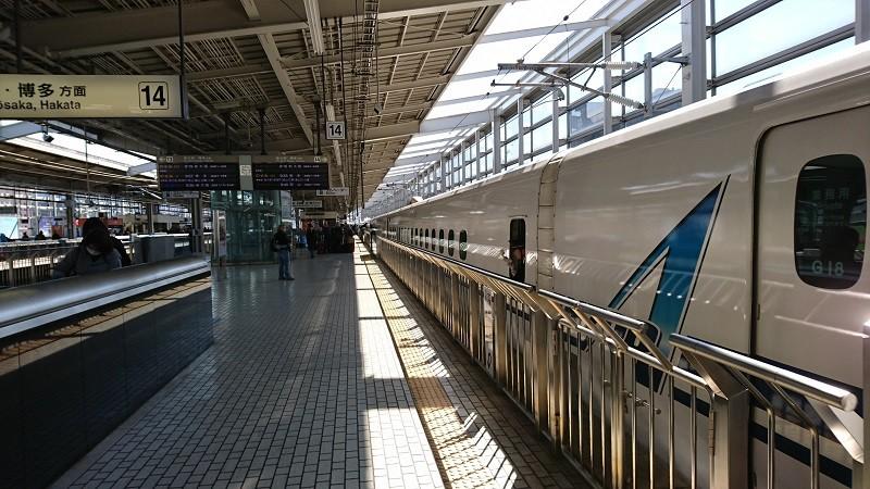 2017.4.2 新幹線 (9) 京都 - 新大阪いきひかり501号 800-450