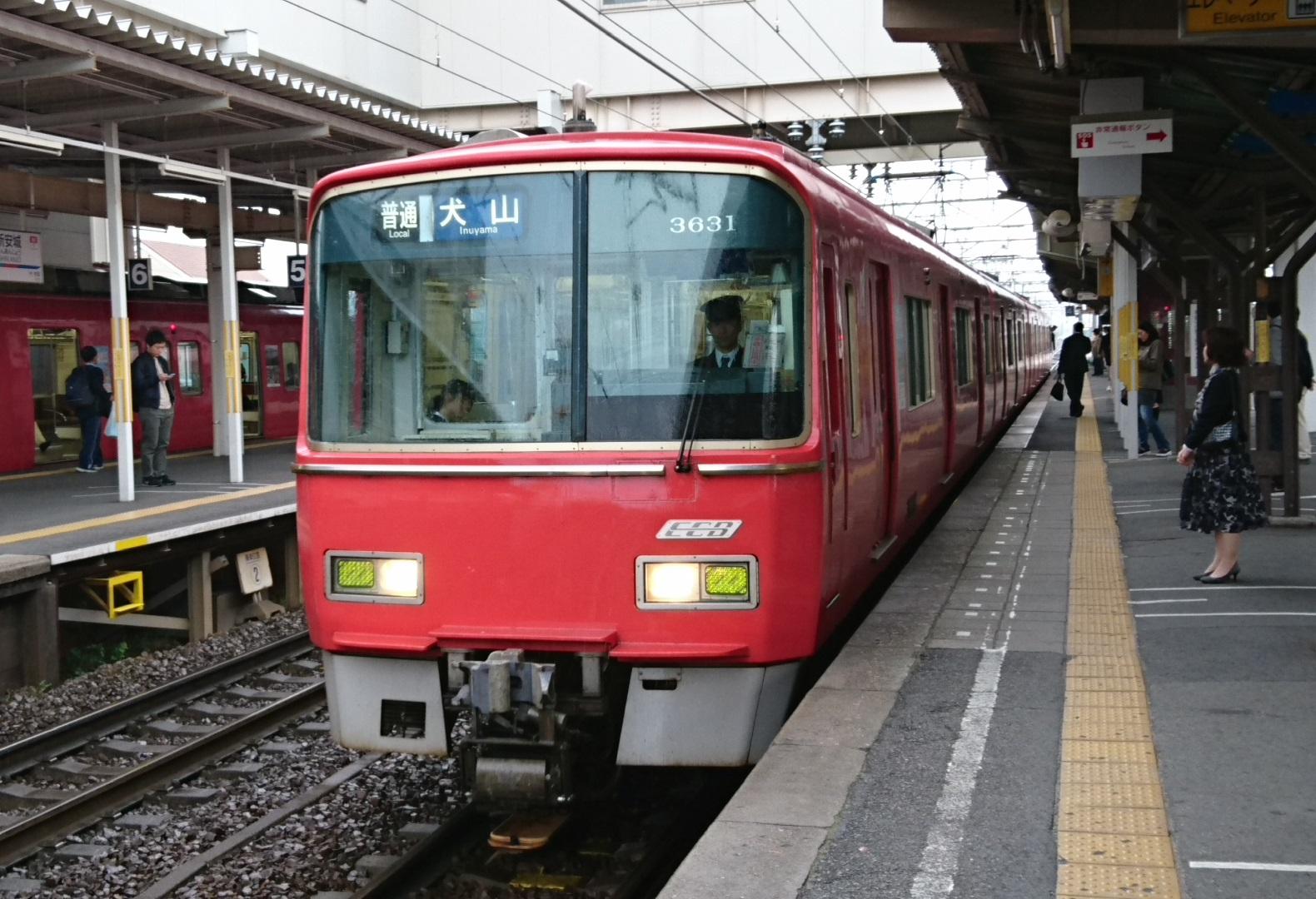 2017.4.15 名鉄 (7) しんあんじょう - 犬山いきふつう 1580-1080