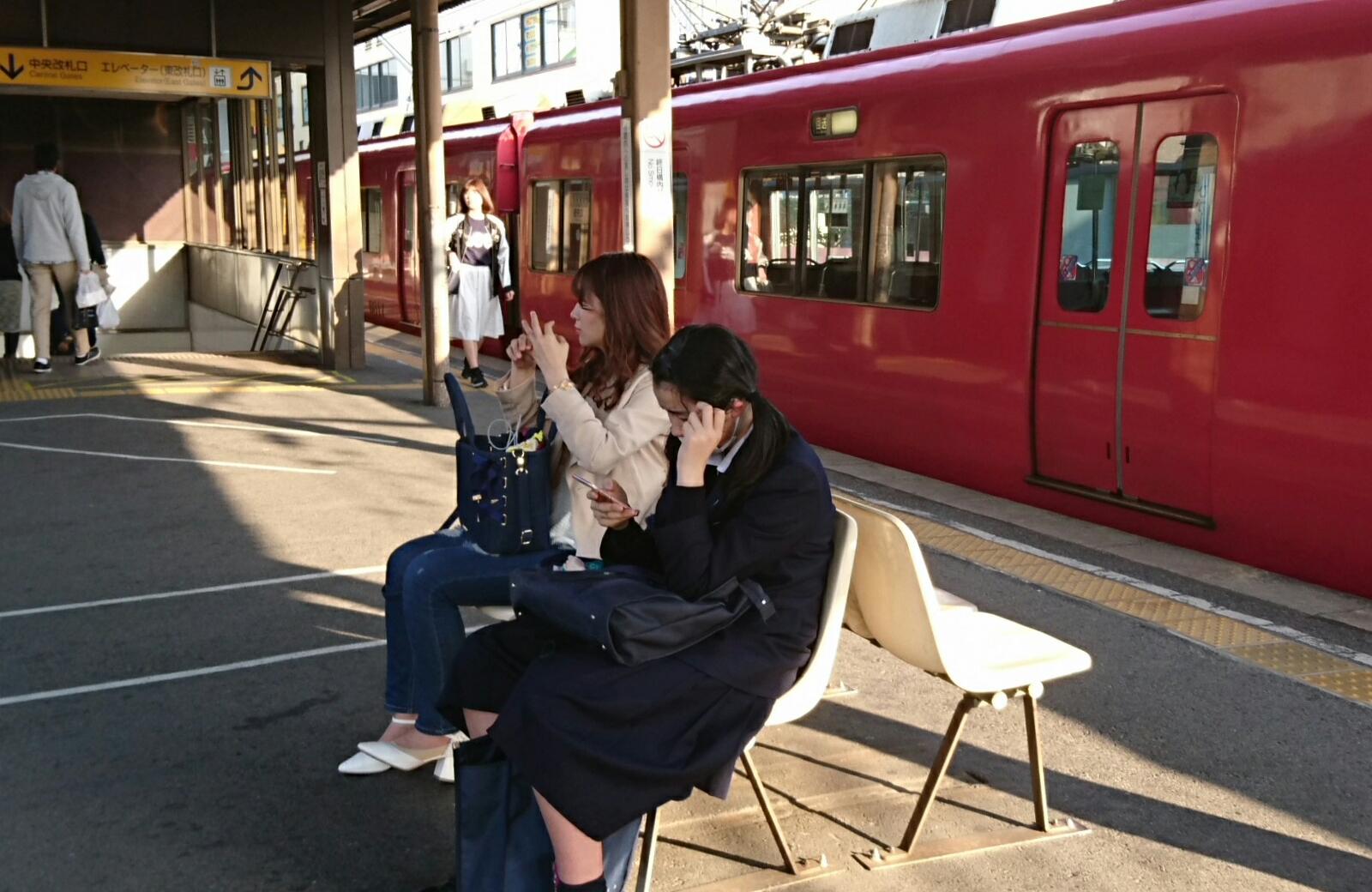 2017.4.15 東岡崎 - 1番のりば回送電車 1600-1040