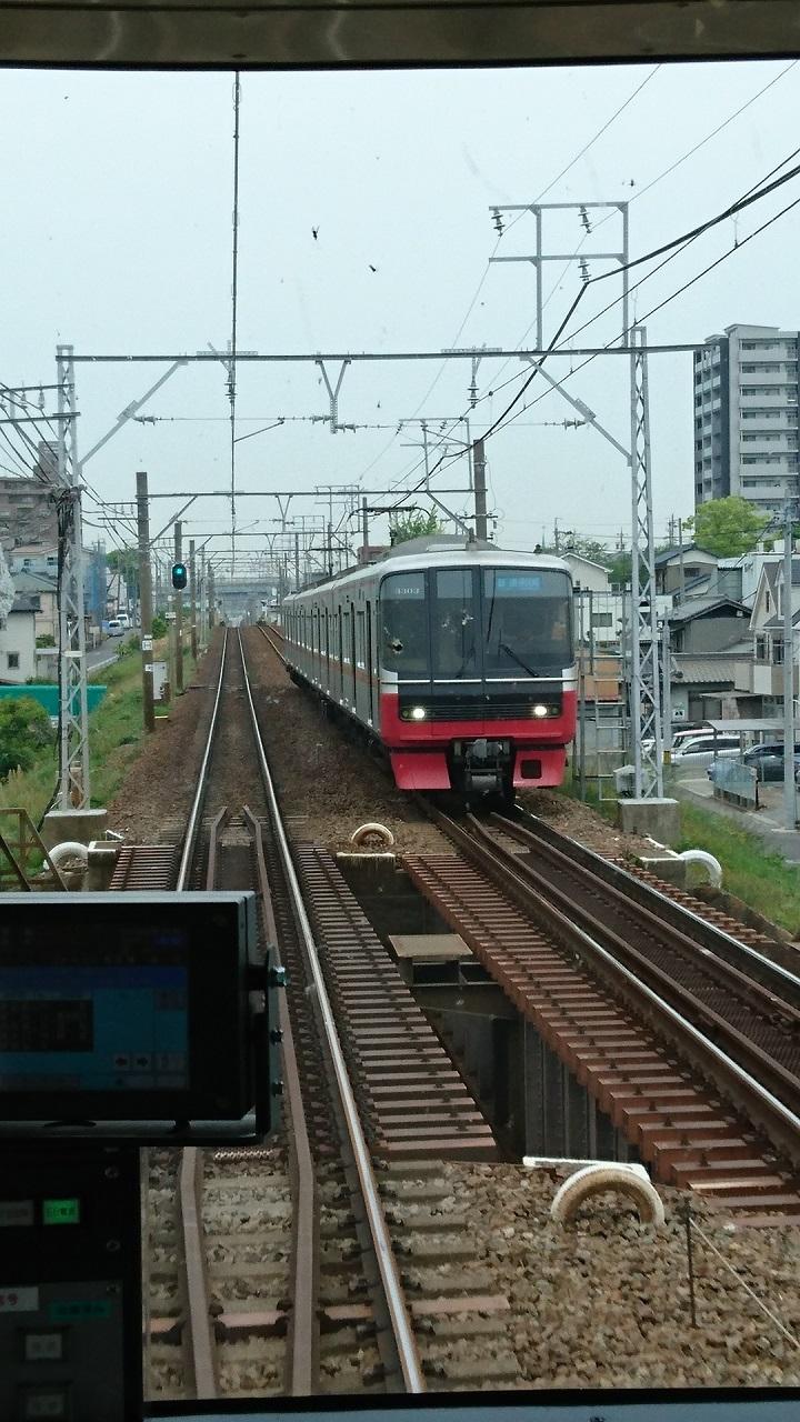 2017.5.9 名鉄 (1) 岐阜いき特急 - 牛田てまえ(東岡崎いきふつう3300系) 720-1280