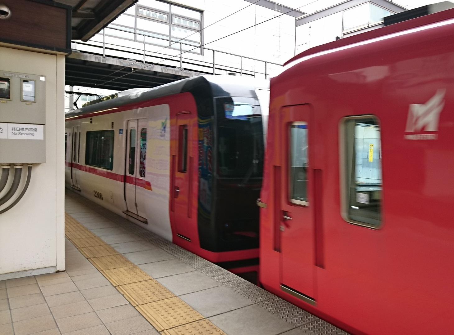 2017.5.9 名鉄 (5) 金山 - 岐阜いき特急「2308」 1460-1080