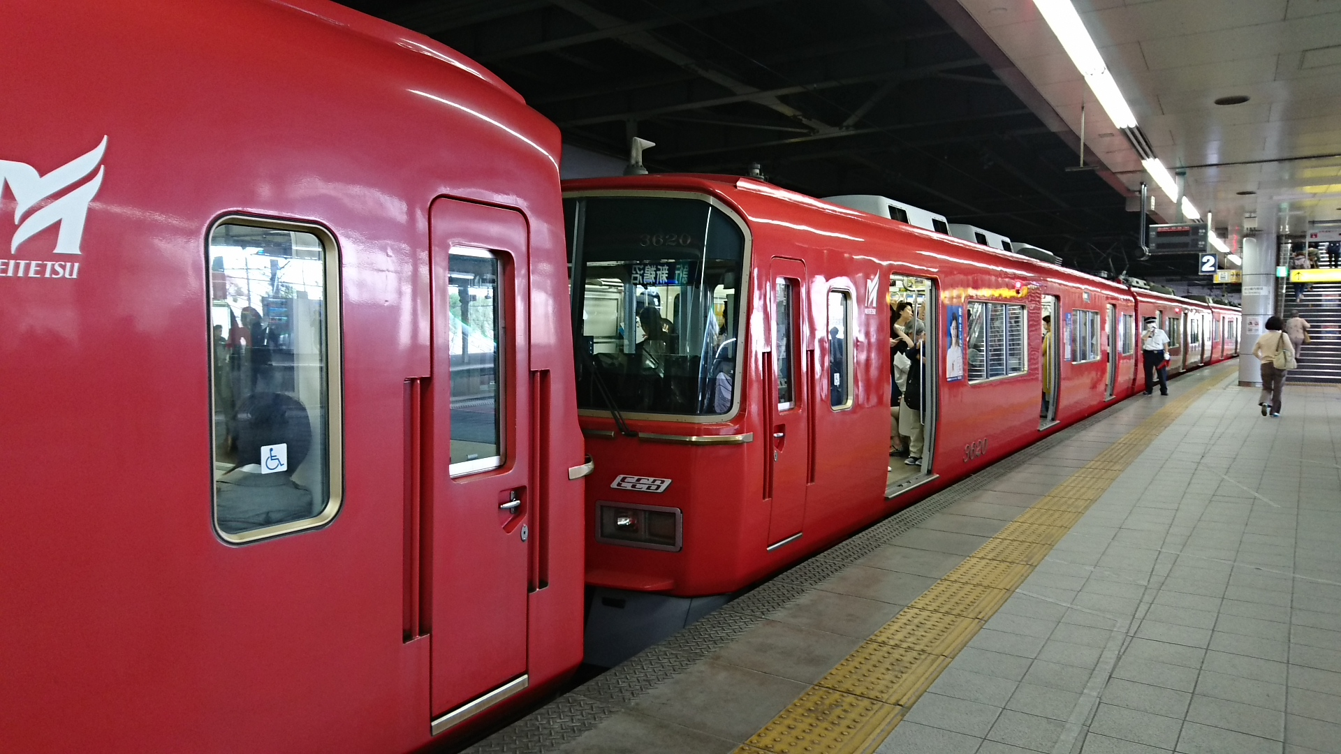 2017.5.9 名鉄 (7) 金山 - 新鵜沼いき急行「3500系」 1920-1080