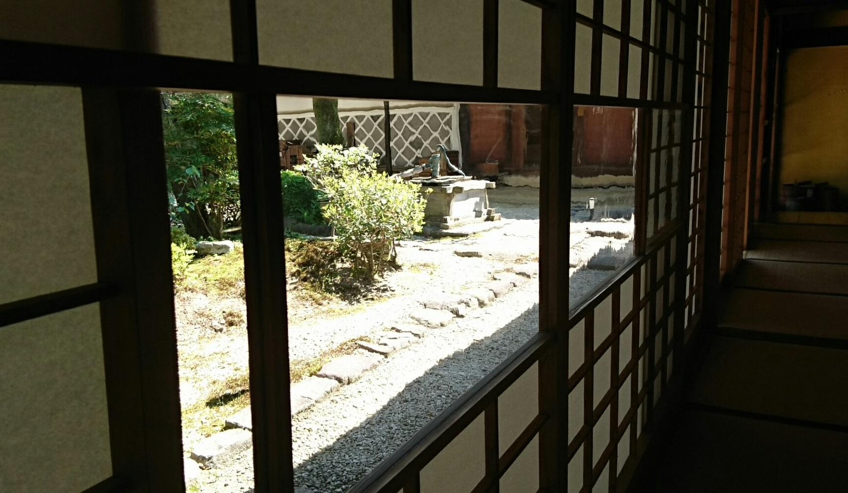 2017.5.19 大井 (65) 中山道ひし屋資料館 - しょうじのガラス 1720-1000
