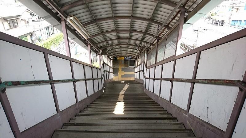 2017.7.16 名鉄 (10) 宇頭=さがりホームこせんきょう階段