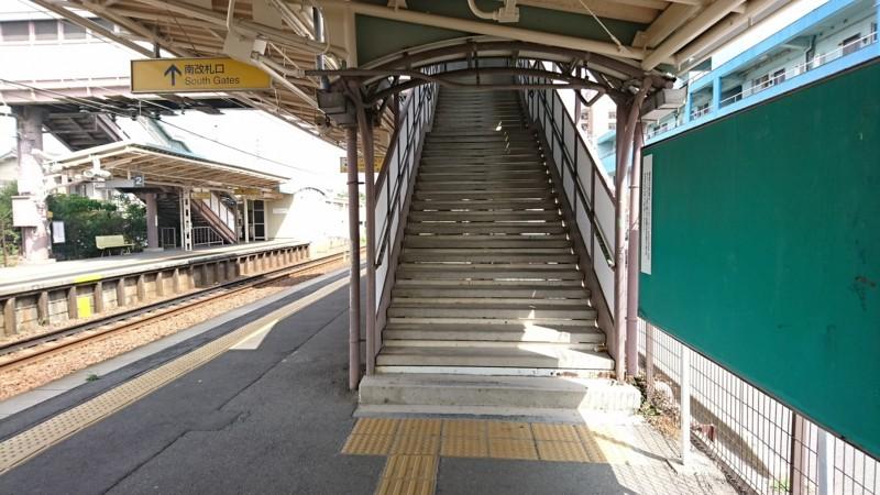 2017.7.16 名鉄 (15) 宇頭=あがりホームこせんきょう階段