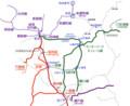 犬山と関のへんの鉄道路線図 890-730
