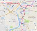 岡崎井田-門立間の関連路線図(あきひこ) 840-720