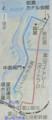 ちょこたび岩瀬の経路図(ちゅうにち)