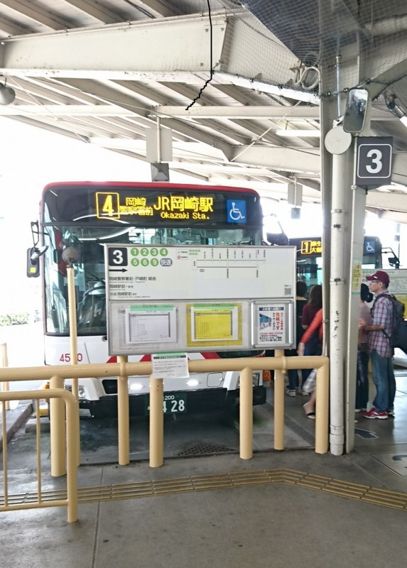 2017.9.25 名鉄 (3) 東岡崎 - JR岡崎駅いきバス 960-1340
