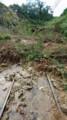 近江鉄道清水山トンネル付近の被害状況(京都新聞)