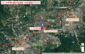 リニア中津川駅の位置図(中日新聞プラス)