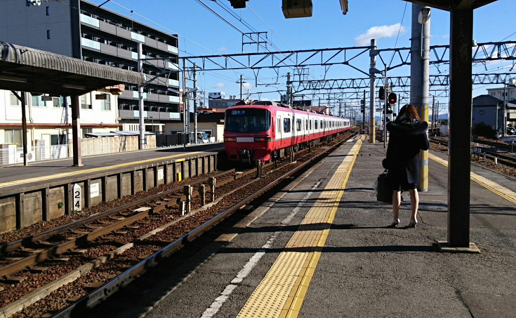 2018.1.3 名鉄 (4) しんあんじょう - 豊橋いき快速特急 1750-1080