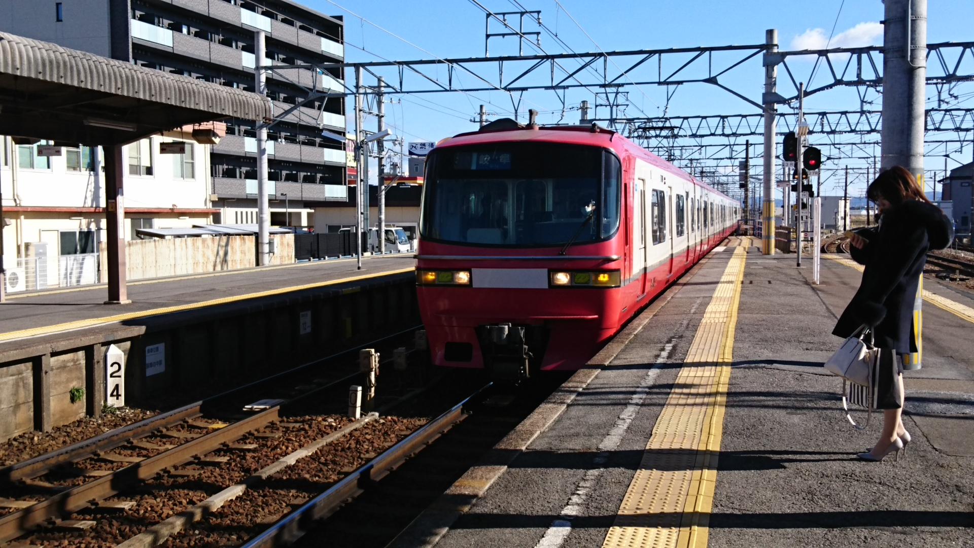 2018.1.3 名鉄 (5) しんあんじょう - 岐阜いき特急 1920-1080