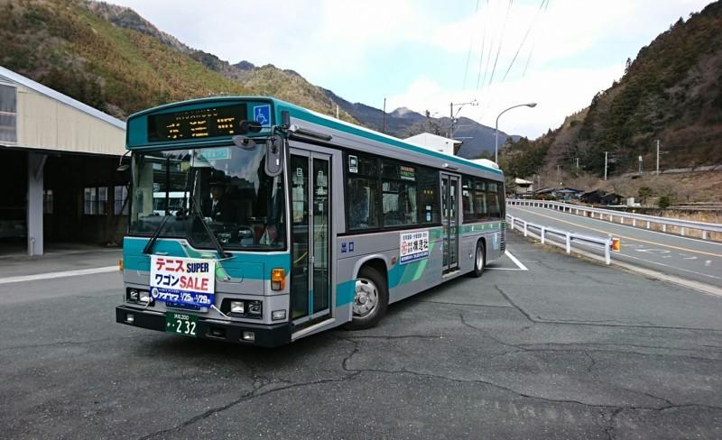 2018.1.11 みさくぼ (174) 北遠本線バス - 水窪町バス停 1770-1080