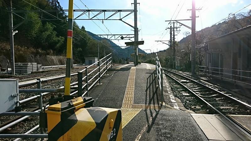 2018.1.11 みさくぼ (201) 水窪 - ホーム 800-450