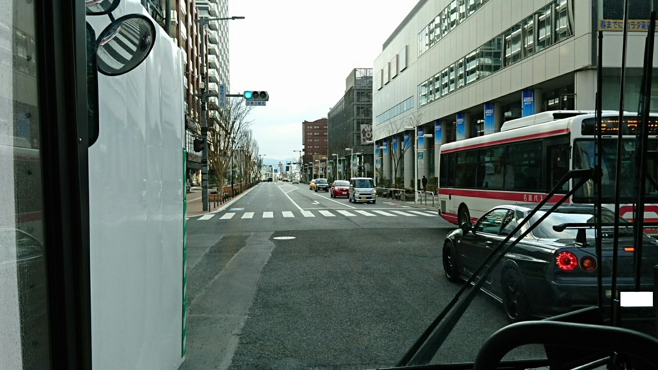 2018.2.5 東山住宅線 (6) 喜多町2丁目交差点 1280-720