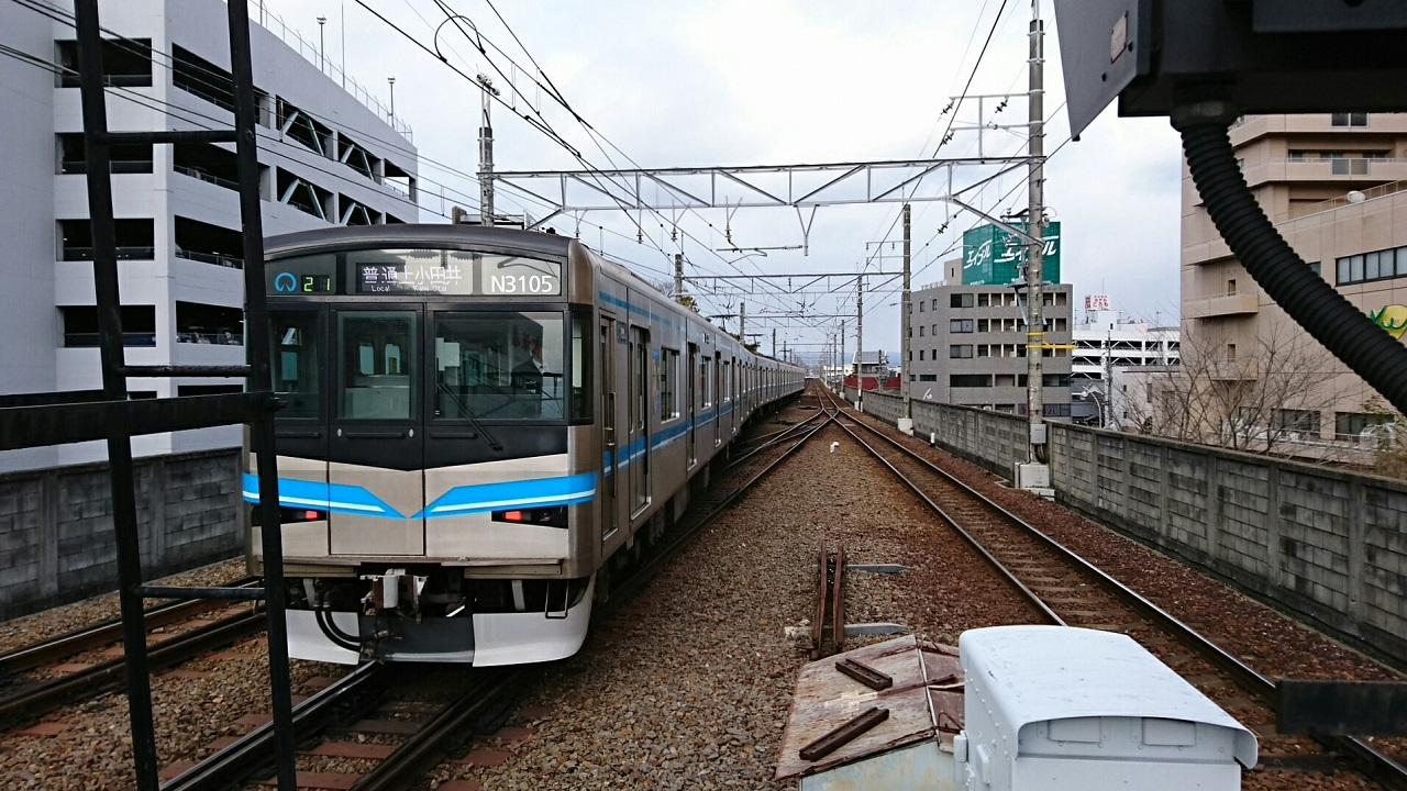 2018.2.5 三河線かえり (4) 豊田市 - 上小田井いきふつう 1280-720