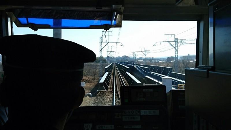 2018.2.8 名鉄 (5) 東岡崎いきふつう - 矢作川をわたる 800-450