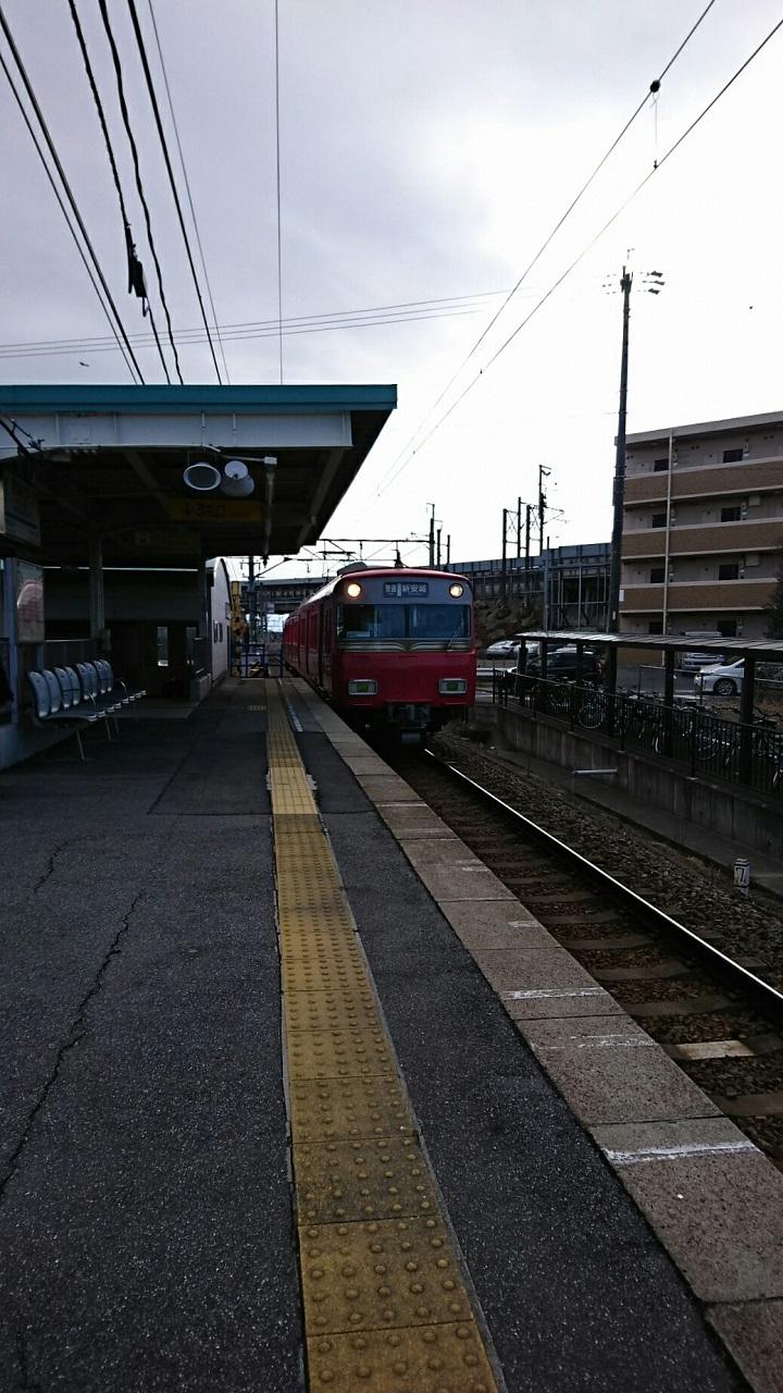 2018.2.11 西尾線 (1) 古井 - しんあんじょういきふつう 720-1280