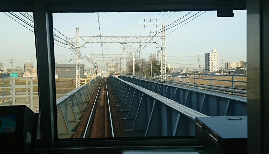 2018.2.19 岐阜 (43) 弥富いき急行 - 庄内川をわたる 940-540