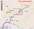 名鉄バス大沼線の終端部の地図(あきひこ) 600-580
