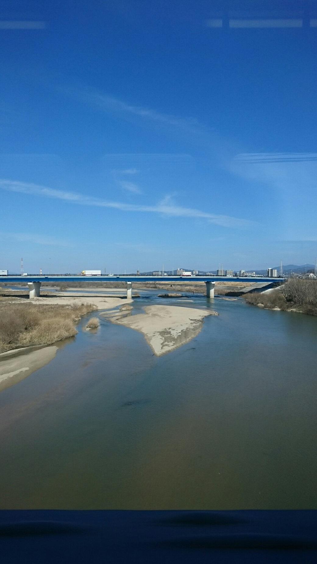 2018.3.2 アクトス (7) 東岡崎いきふつう - 矢作川をわたる 1040-1850