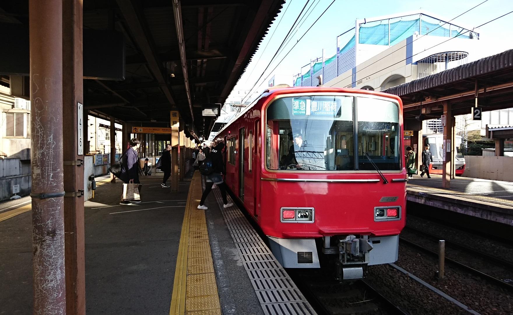 2018.3.4 (19) 東岡崎 - 豊川稲荷いき準急 1760-1080
