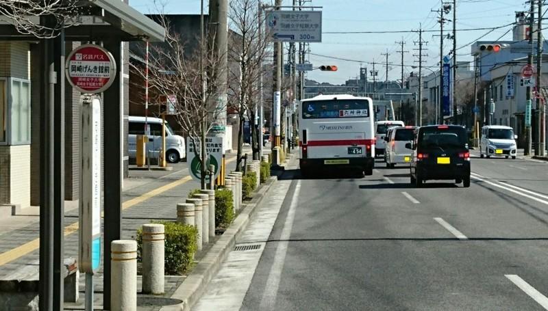 2018.3.6 坂戸 (69) 名鉄バス - 岡崎げんき館前バス停 950-540