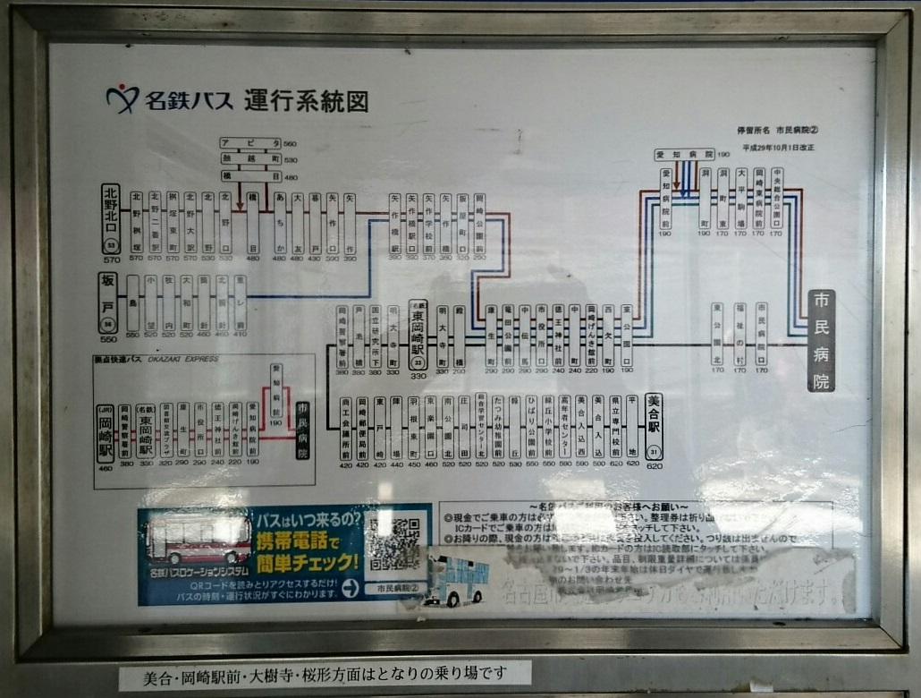 2018.3.6 坂戸 (93) 市民病院バスのりば - 運行系統図 1030-780