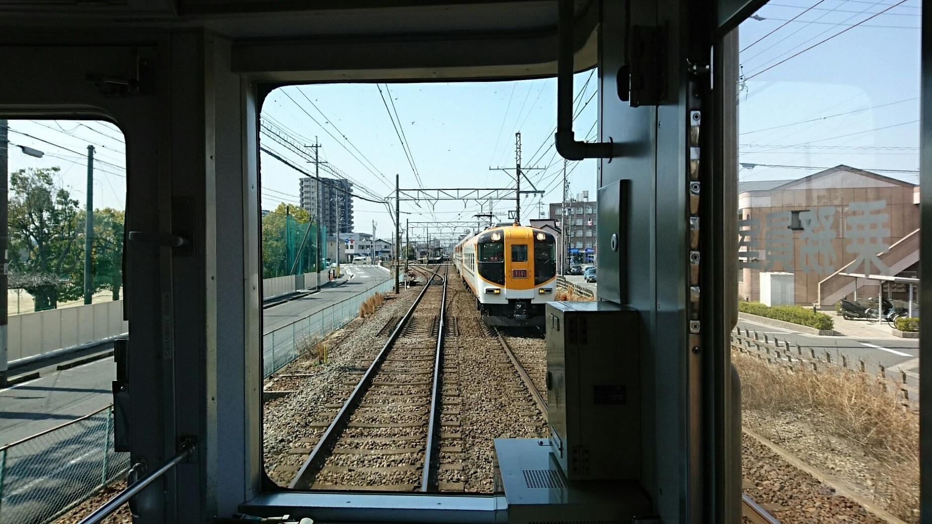 2018.3.13 白子 (21) 松阪いき急行 - 蟹江てまえ(ビスタカー) 1850-1040