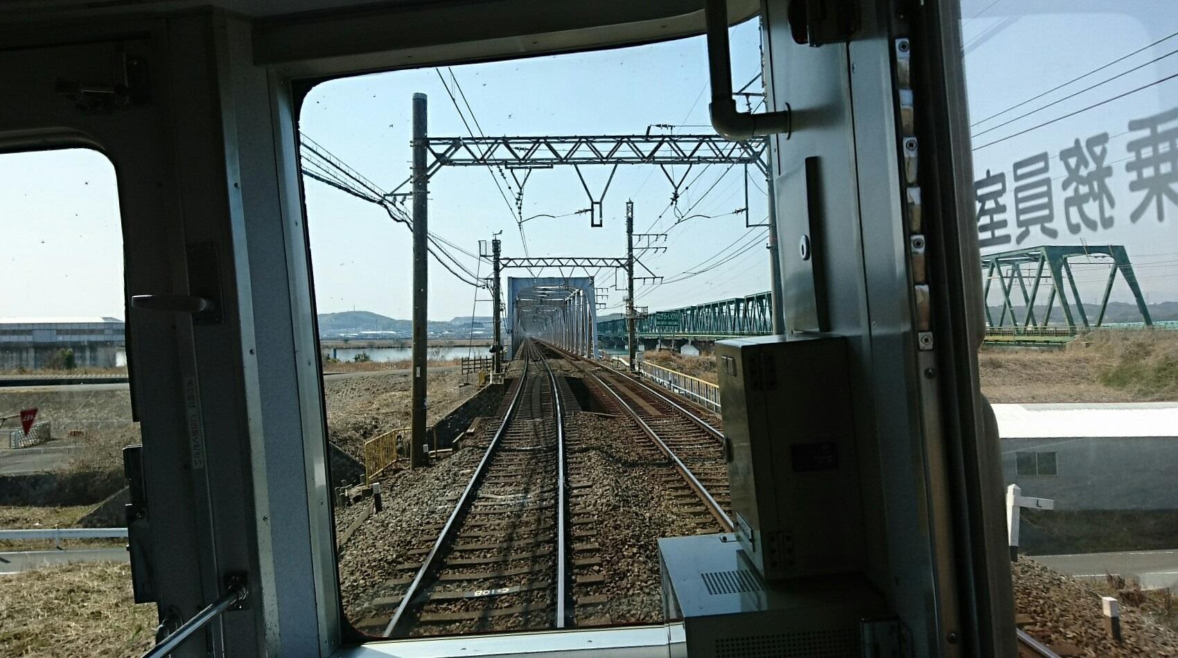 2018.3.13 白子 (25) 松阪いき急行 - 長良川揖斐川鉄橋 1700-950