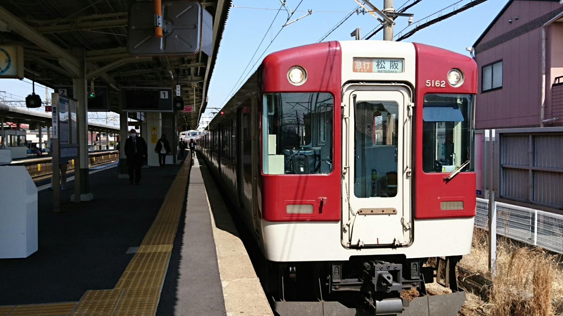 2018.3.13 白子 (36) 伊勢若松 - 松阪いき急行 1850-1040
