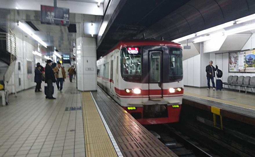 2018.3.13 白子 (75) 名古屋 - セントレアいき特急 880-540