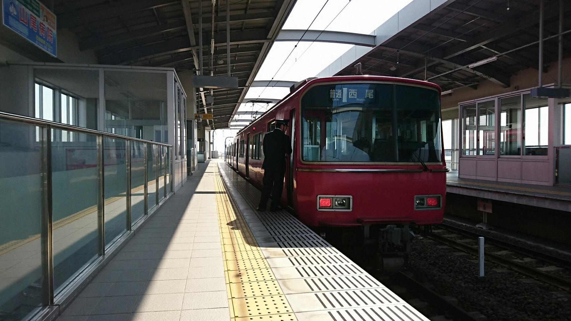 2018.3.15 名鉄 (2) 桜井 - 西尾いきふつう(6825編成2両) 1850-1040