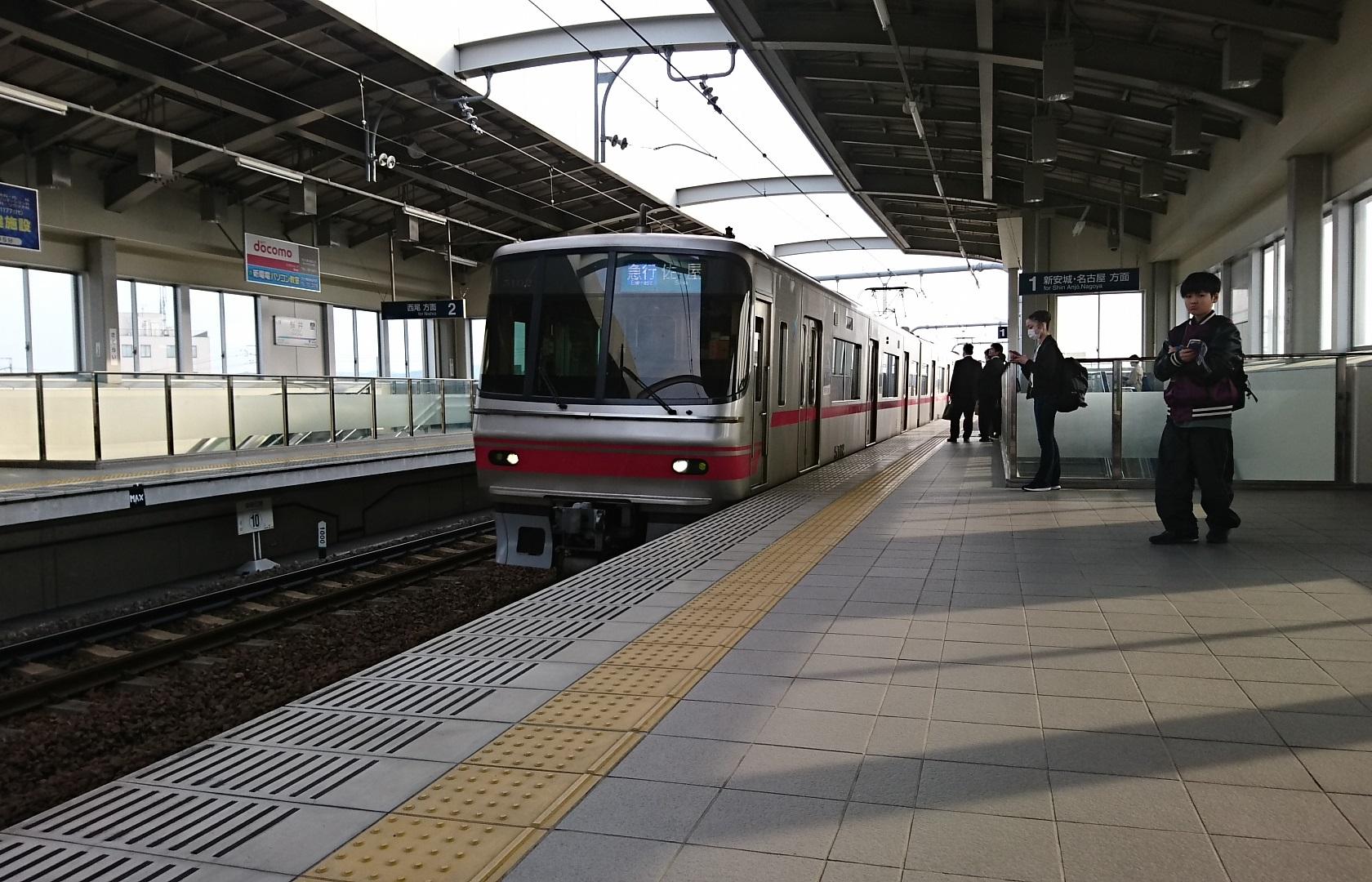 2018.3.15 名鉄 (3) 桜井 - 佐屋いき急行(5002編成4両) 1680-1080