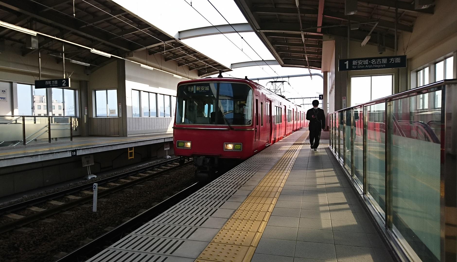 2018.3.15 名鉄 (6) 桜井 - しんあんじょういきふつう(6814編成2両) 1880-1080