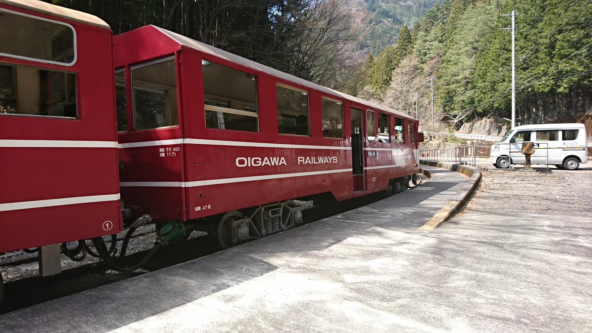 2018.3.28 かえり (3) 井川 - 千頭いき列車(クハ601) 1920-1080