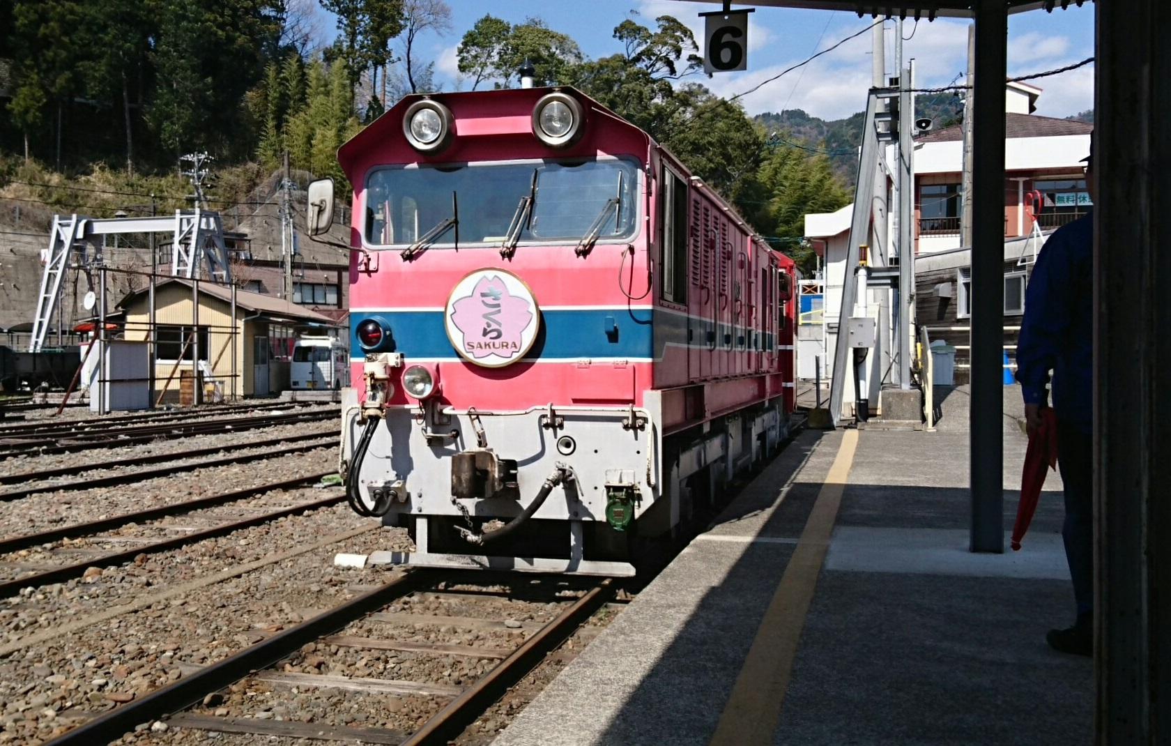 2018.3.28 かえり (32) 千頭 - 井川いき列車 1680-1070