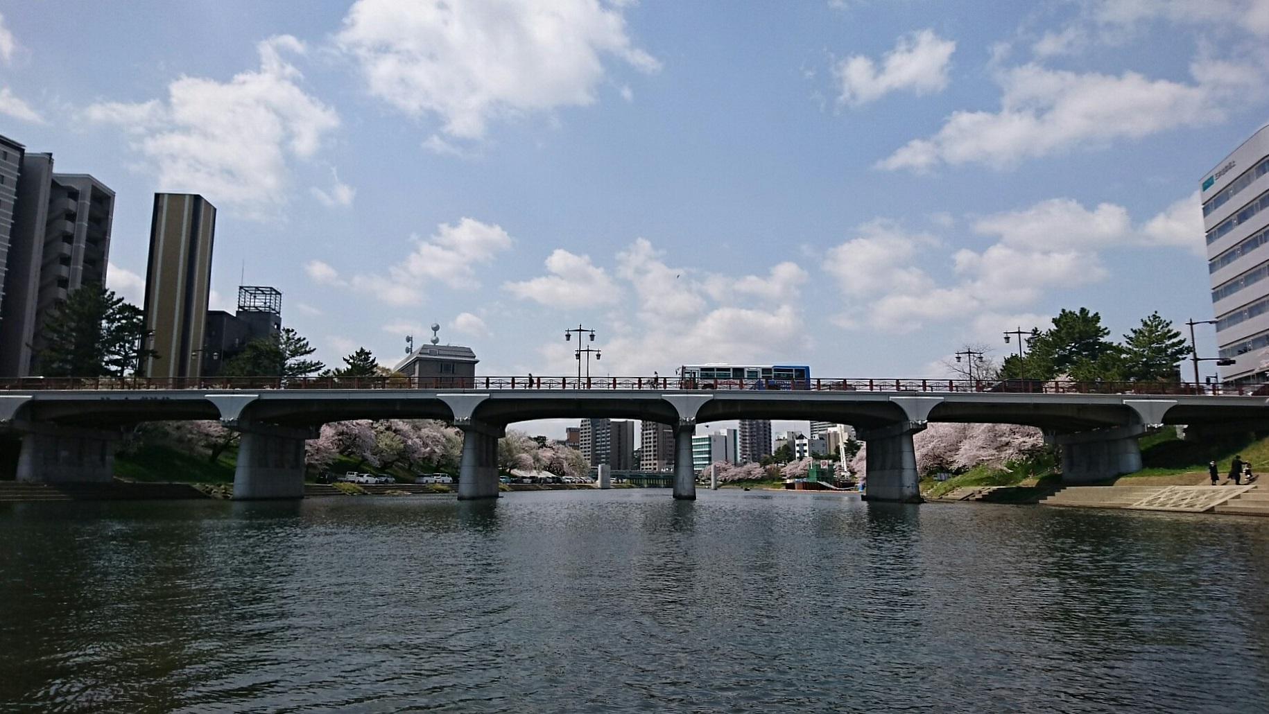 2018.3.31 岡崎ふなあそび (8) くだり - 明代橋 1830-1030