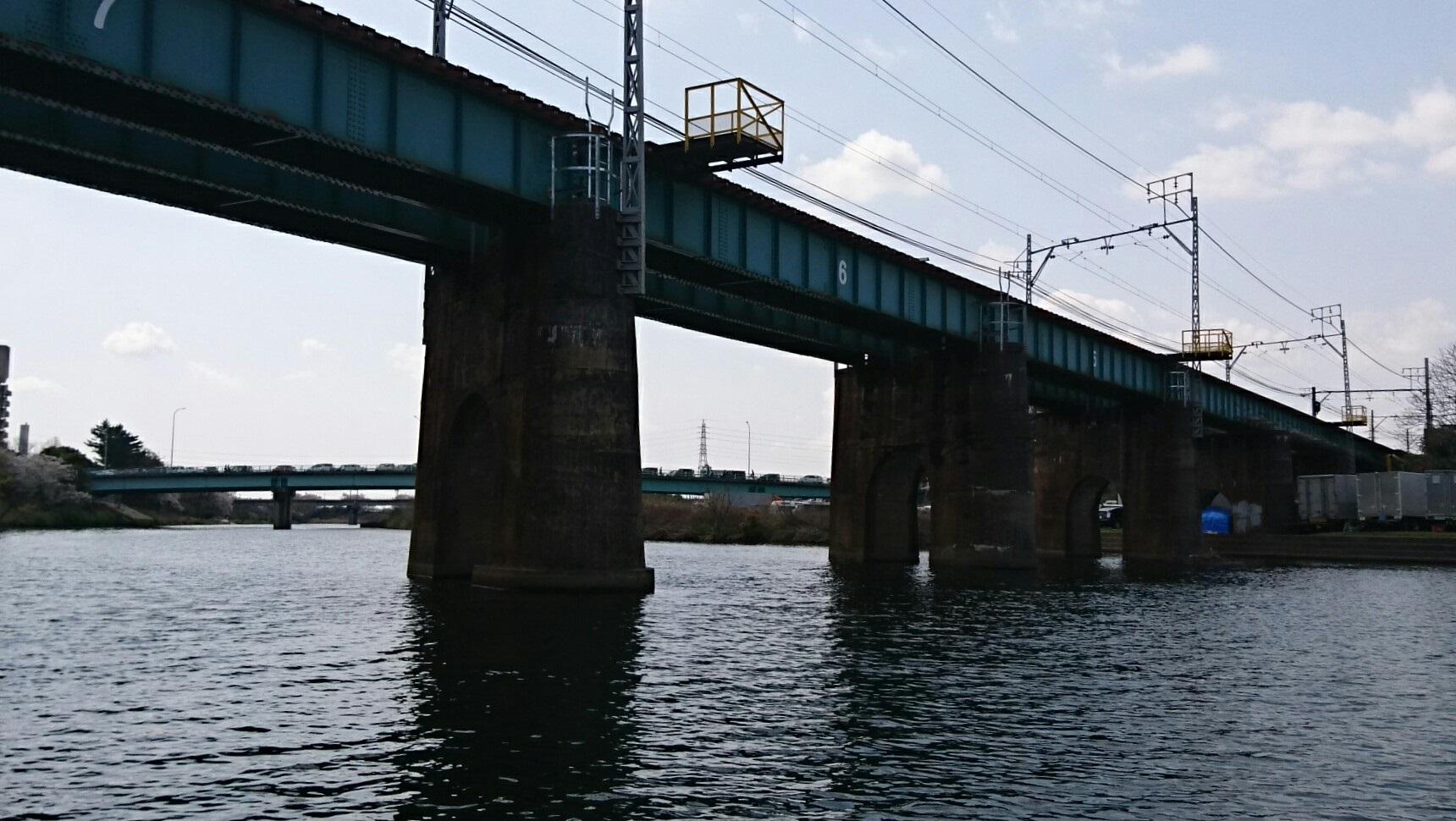 2018.3.31 岡崎ふなあそび (25) くだり - 名古屋本線鉄橋 1720-970