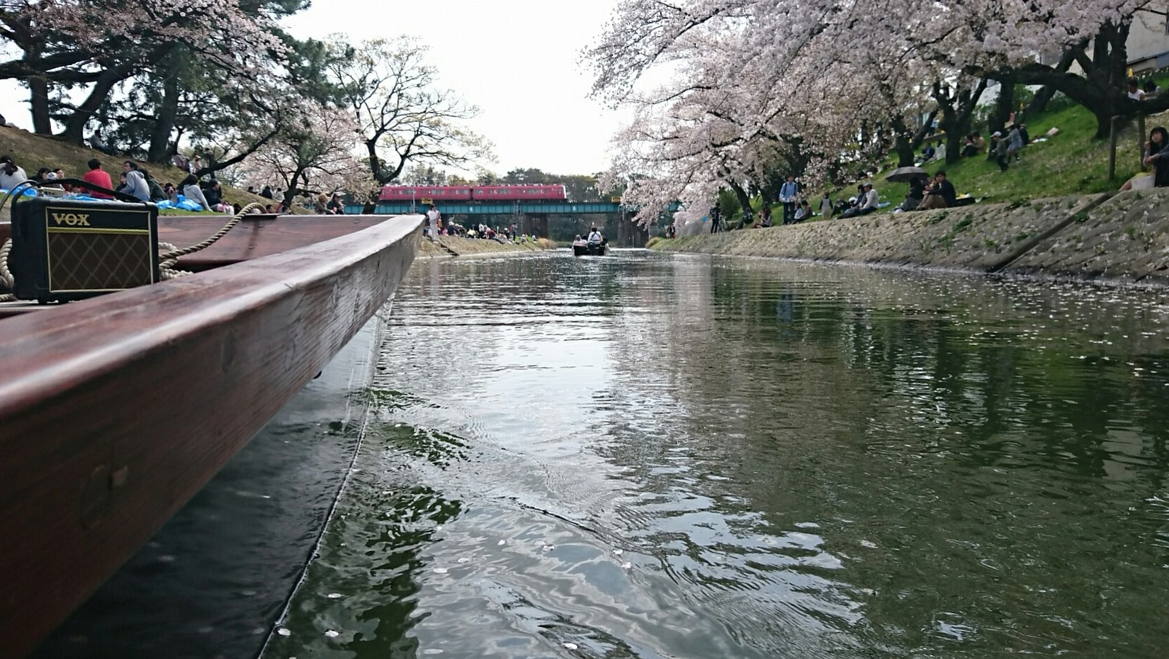 2018.3.31 岡崎ふなあそび (48) 伊賀川くだり - 名古屋本線鉄橋 1650-930