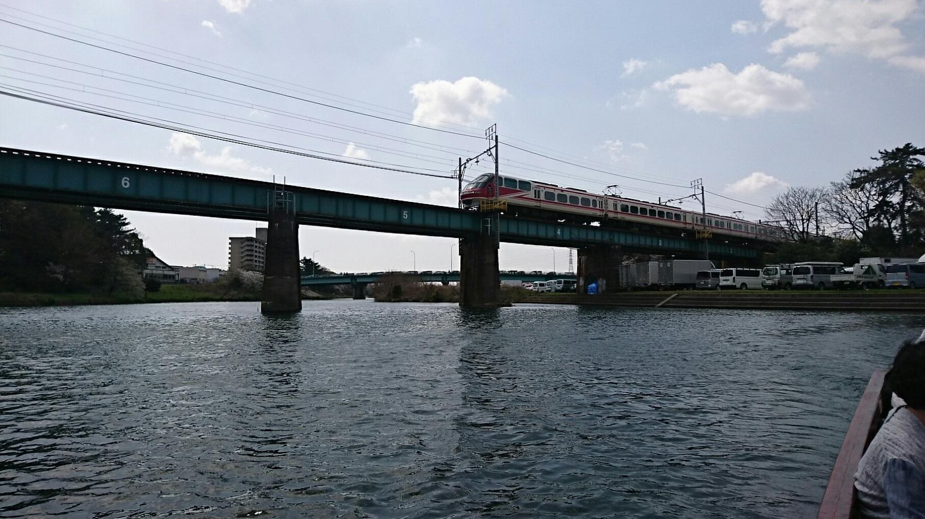 2018.3.31 岡崎ふなあそび (54) 転回 - 名古屋本線鉄橋 1800-1010