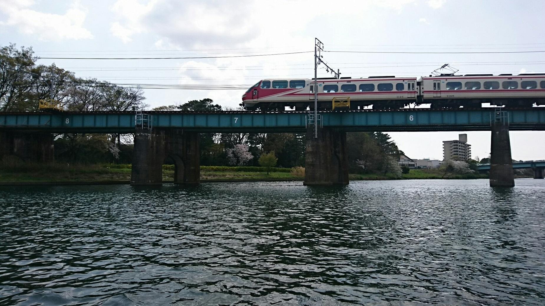 2018.3.31 岡崎ふなあそび (55) 転回 - 名古屋本線鉄橋 1850-1040